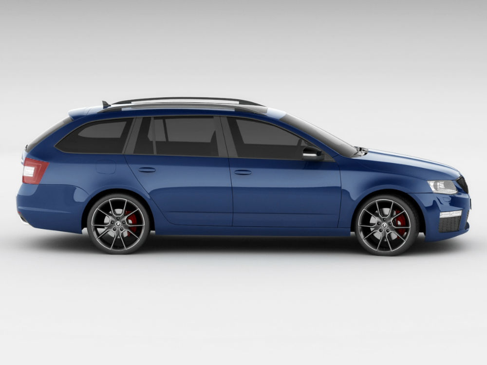 2014-Skoda-Octavia-RS-Wagon-Blue